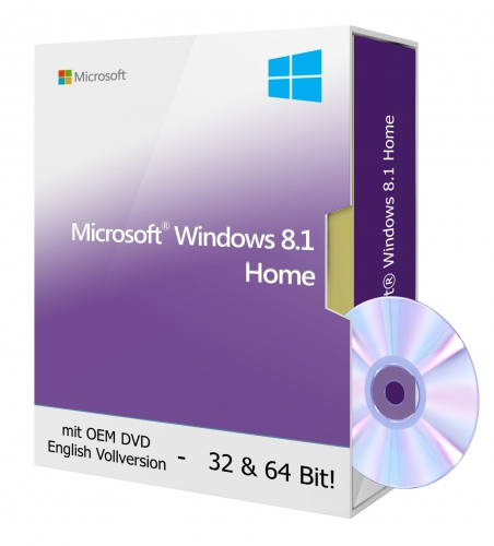 Microsoft Windows 8.1 Home OEM DVD