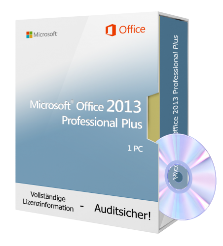 Microsoft Office 2013 PROFESSIONAL PLUS 1 PC inkl. DVD