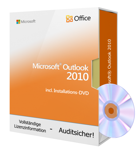 Microsoft Outlook 2010 inkl. Installations-DVD, 1PC