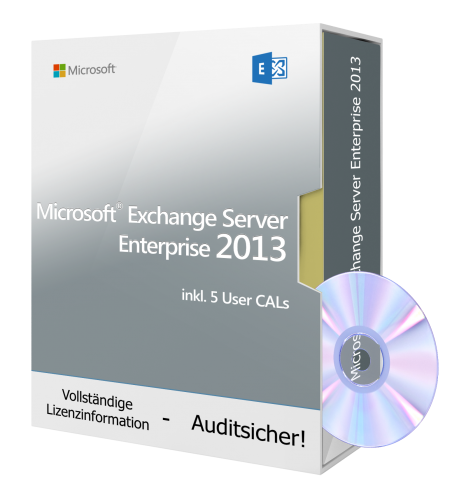 Microsoft Exchange Server Enterprise 2013 DVD inkl. 5 User CALs