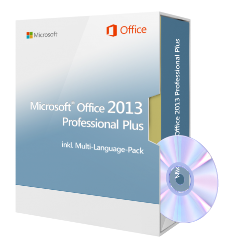 Microsoft Office 2013 Professional Plus inkl. DVD, inkl. Multi-Language-Pack