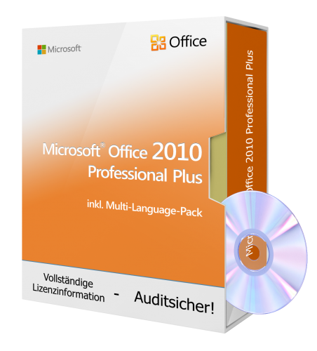 Microsoft® Office 2010 Professional Plus DVD, inkl. Multi-Language-Pack