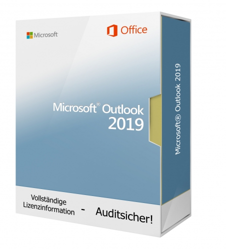 Microsoft Outlook 2019 inkl. Installations-DVD, 1PC