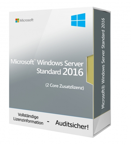 Microsoft Windows Server 2016 Standard (2 Core Zusatzlizenz)
