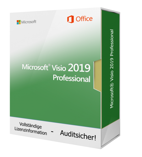 Microsoft Visio 2019 Professional 1 PC Downloadlizenz