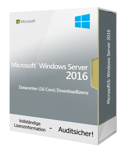 Microsoft Windows Server 2016 Datacenter (16 Core) Downloadlizenz