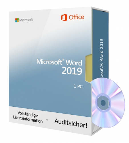 Microsoft Word 2019 DVD 1 PC