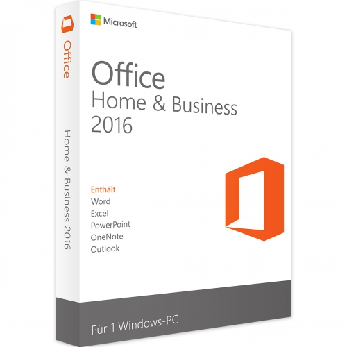 Microsoft Office 2016 Home and Business PKC Box