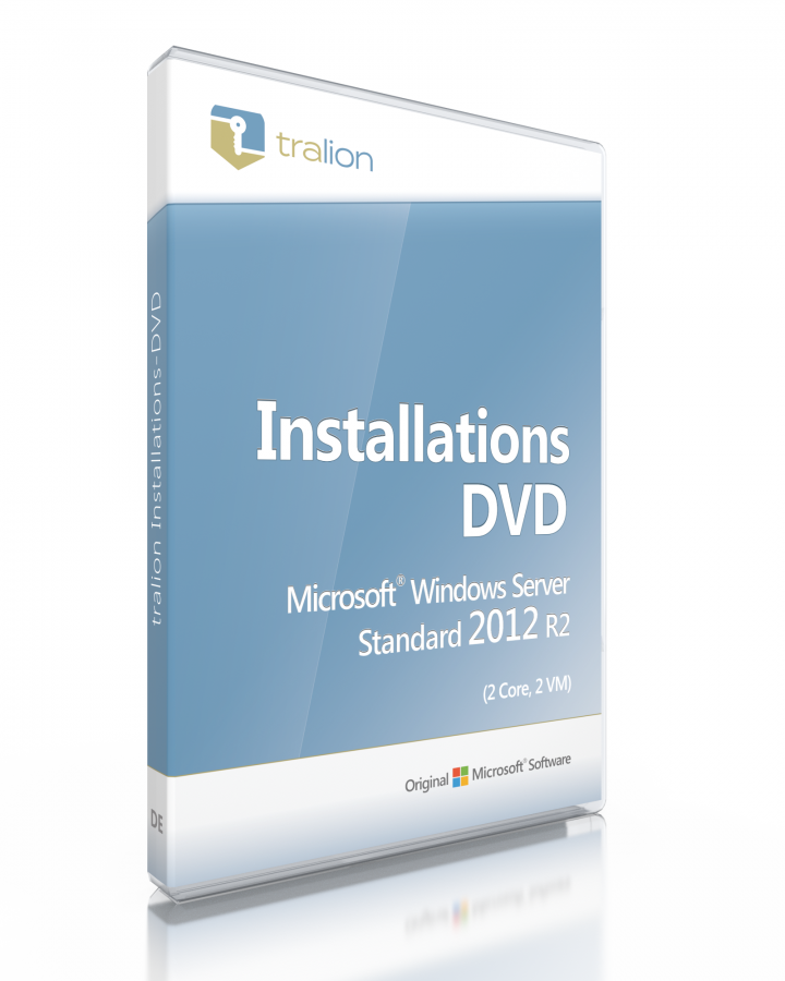 Microsoft Windows Server 2012 R2 Standard inkl. DVD (2 Core Zusatzlizenz, 2 VM)