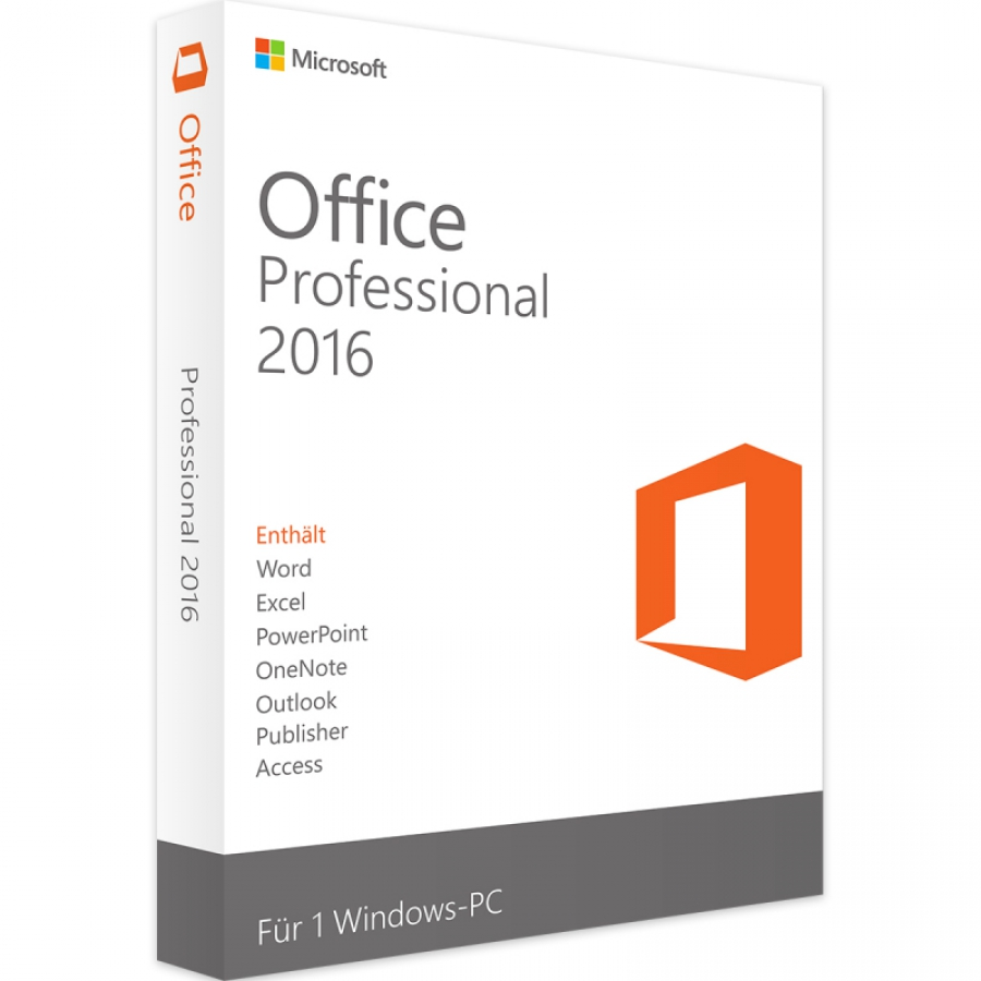 Microsoft Office 2016 Professional ESD
