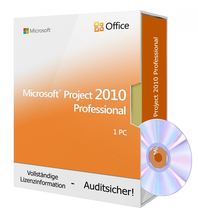 Microsoft Project 2010 PROFESSIONAL - DVD 1 PC