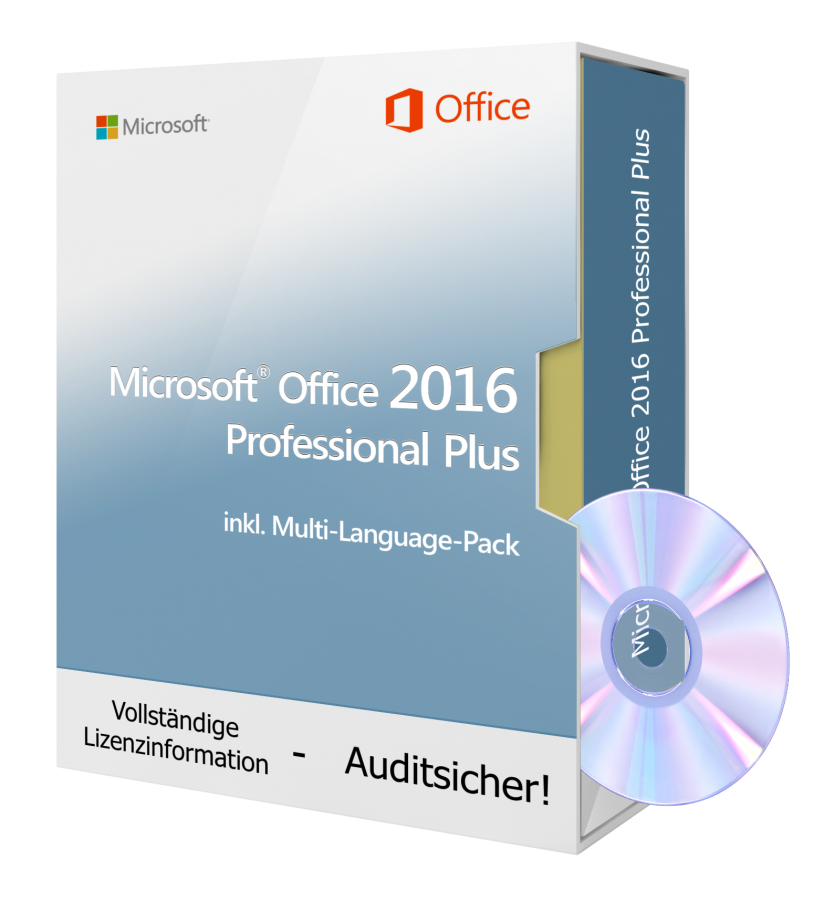 Microsoft Office 2016 Professional Plus - 1 PC inkl. DVD