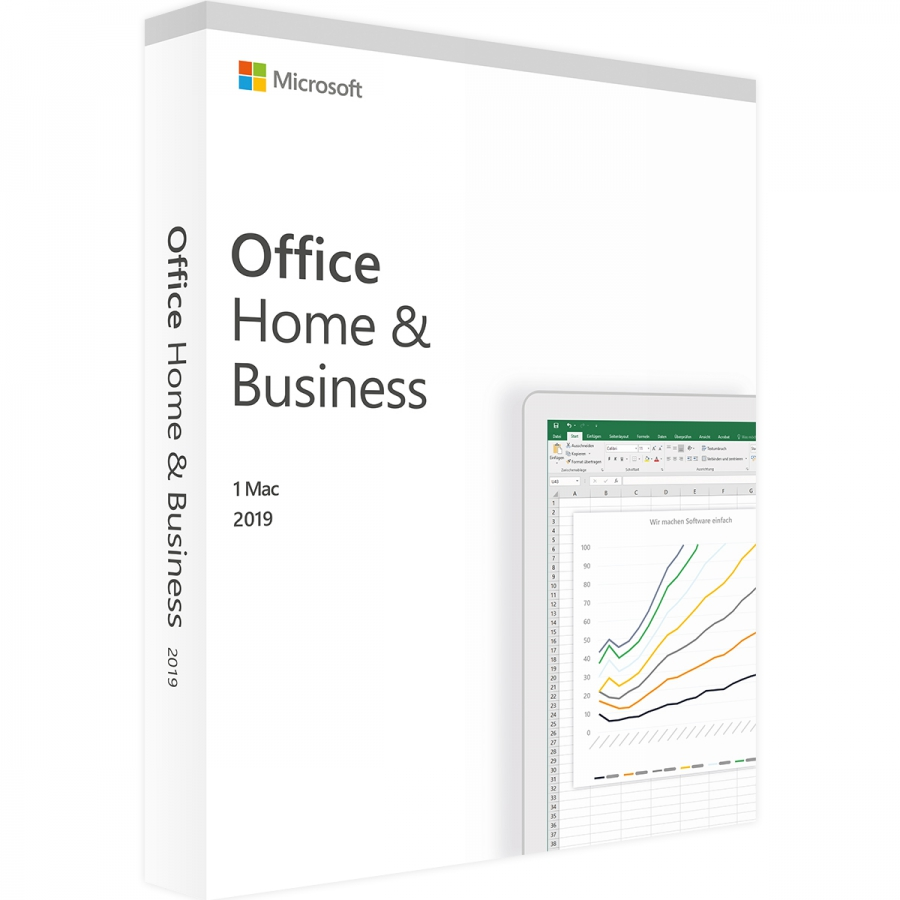 Microsoft Office 2019 Home and Business für PC/MAC ESD