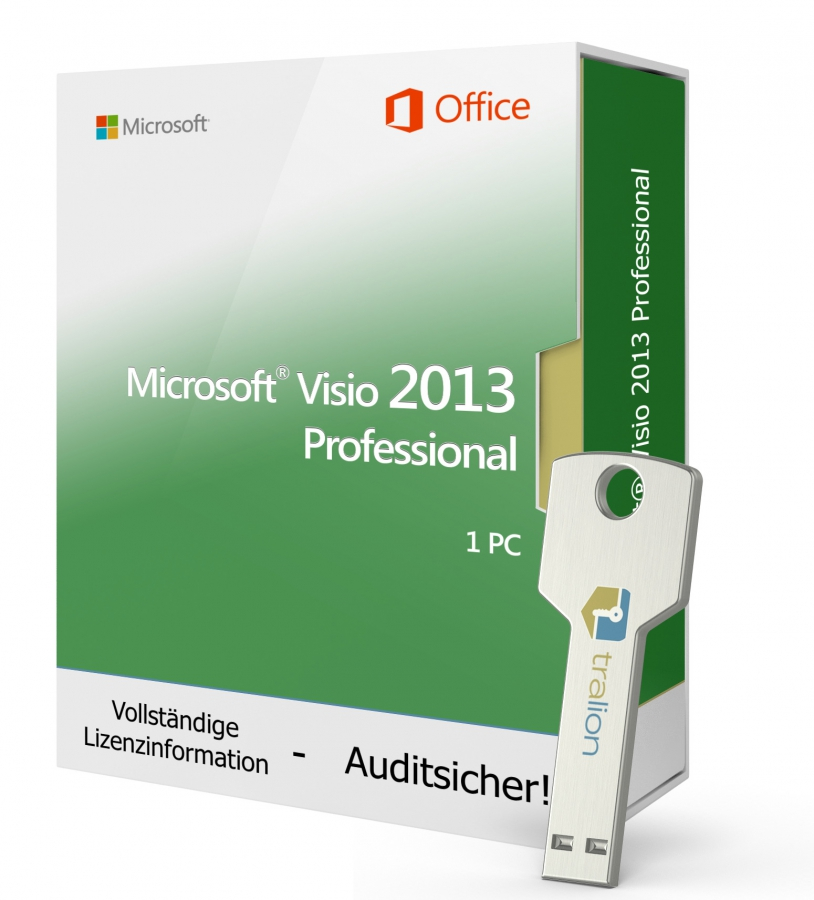 Microsoft Visio 2013 PROFESSIONAL - USB-Stick 1 PC
