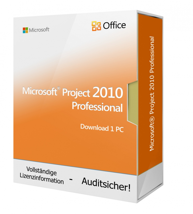 Microsoft Project 2010 PROFESSIONAL - Download 1 PC