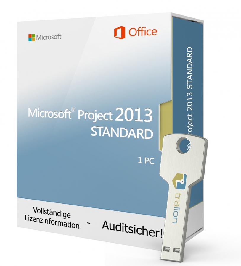 Microsoft Project 2013 STANDARD- USB-Stick 1 PC
