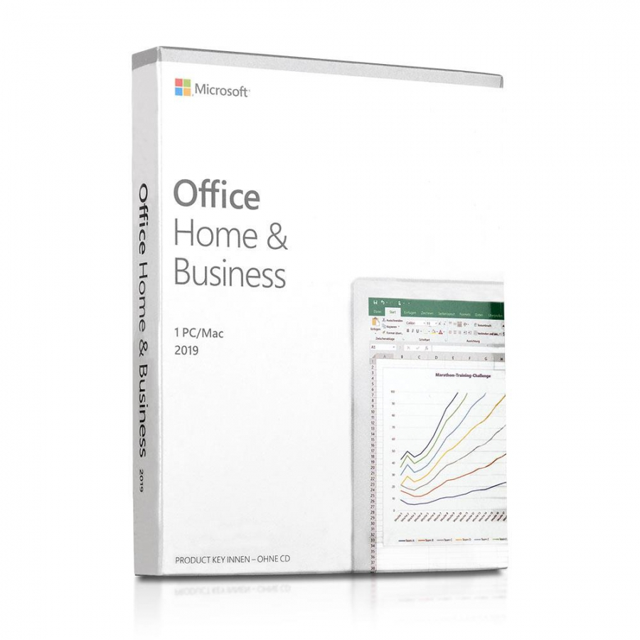 Microsoft Office 2019 Home and Business PKC Box für PC/Mac