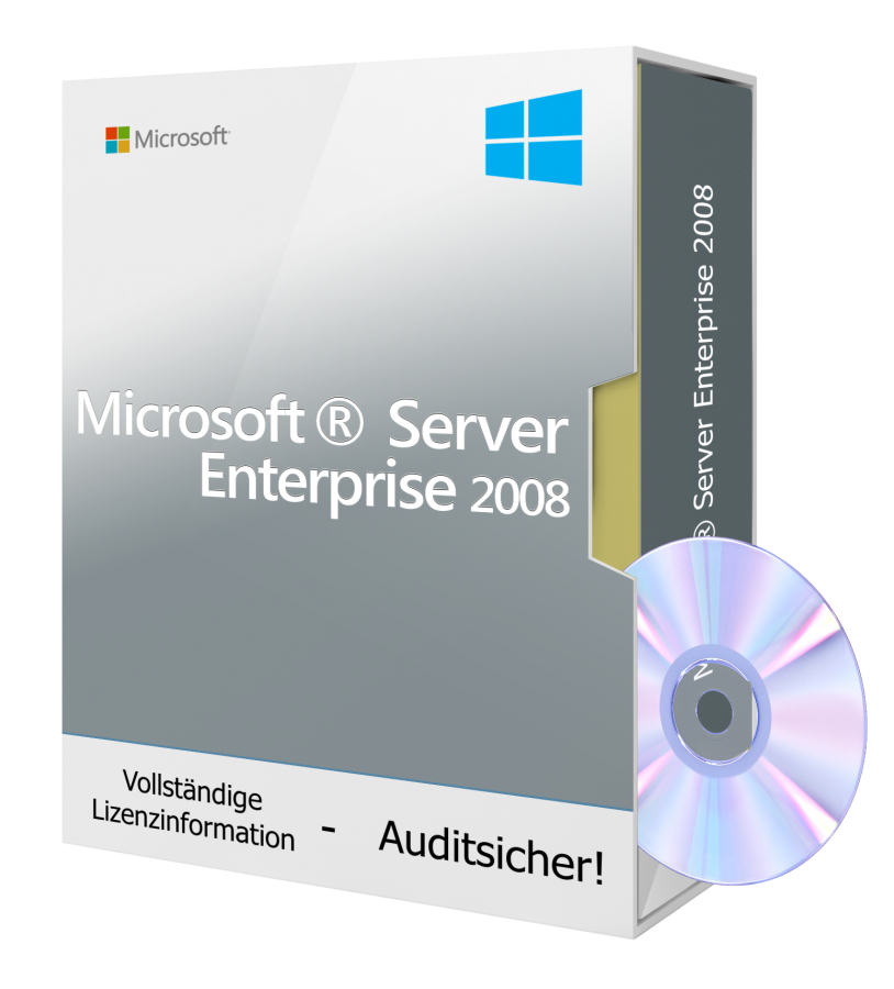 Microsoft Windows Server 2008 Enterprise R2 inkl. DVD